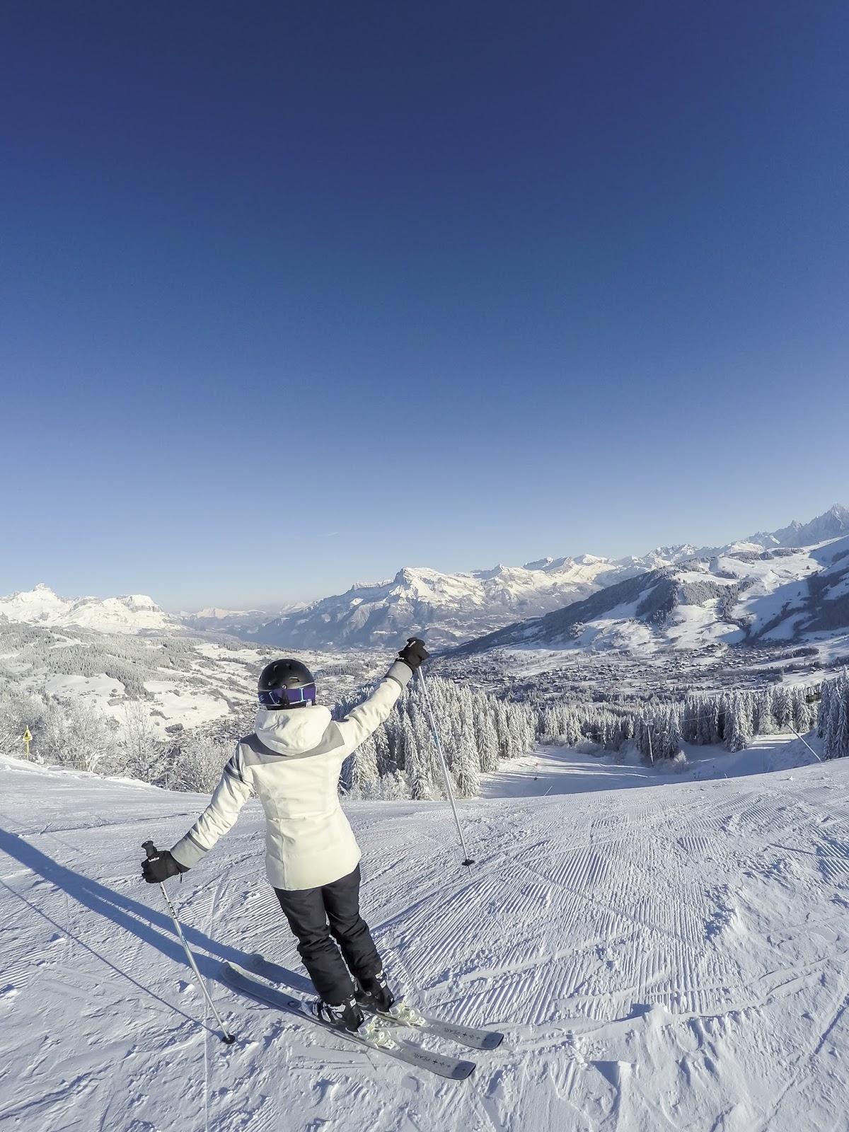 skier megève alpes