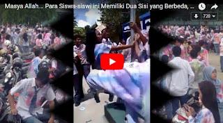 VIRAL! Video Konvoi Siswa Rayakan Kelulusan Disiram Comberan oleh Warga