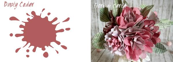 colore Dusty Cedar e progetto fiori di carta