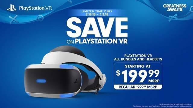 PlayStation VR baja el precio a 199 dólares temporalmente