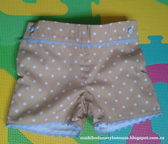 conhiloslanasybotones - conjunto pantalón y camisa coordinado topitos y rayitas