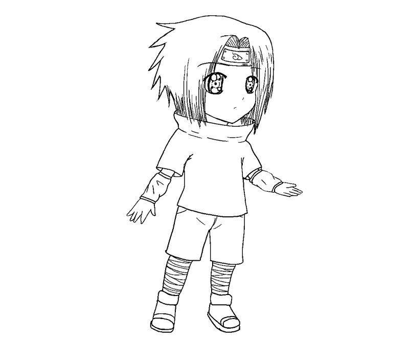 Printable Sasuke Uchiha 26 Coloring Page