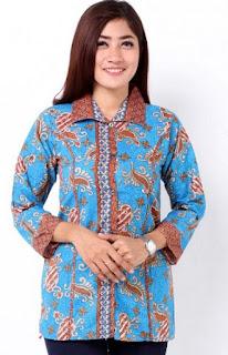 Model Baju Batik Kantor Modern Terbaru 2017