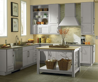 Gray Cabinets in a Shaker Style Kitchen
