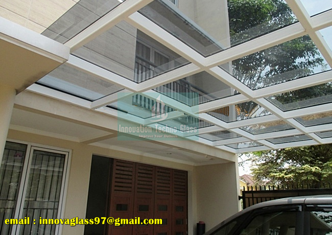 Kanopi Kaca Tempered Pada Carport Perum Citraraya