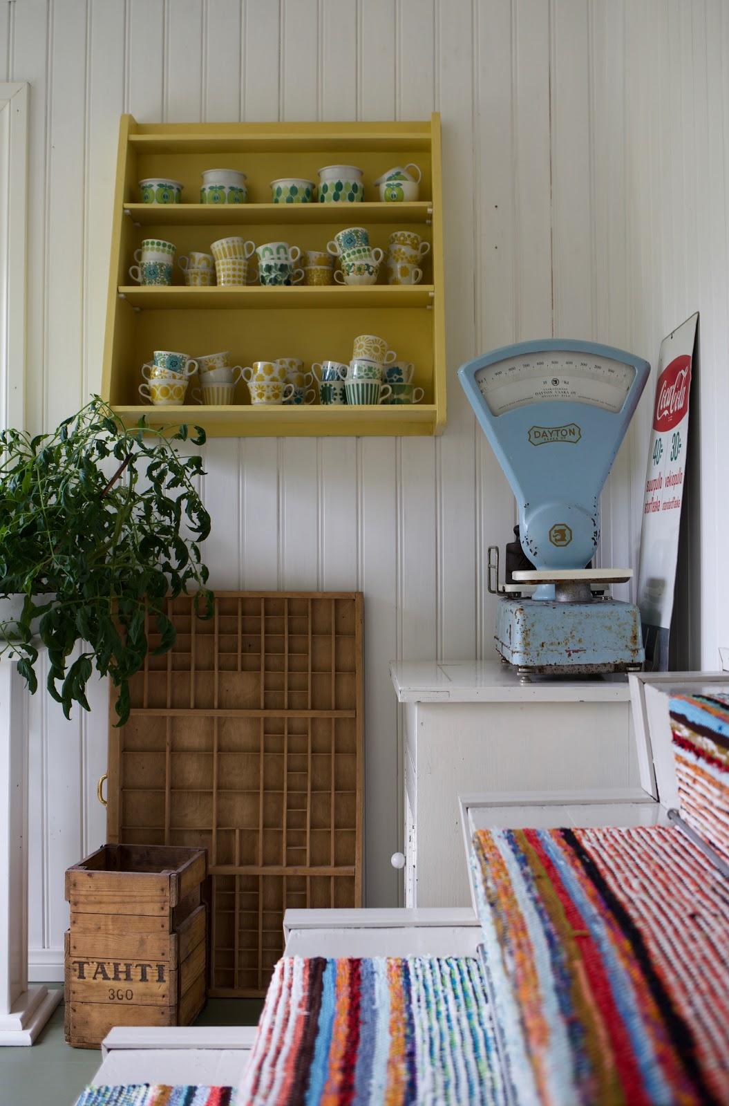 vintageinterior keltainen kahvipannu blogi