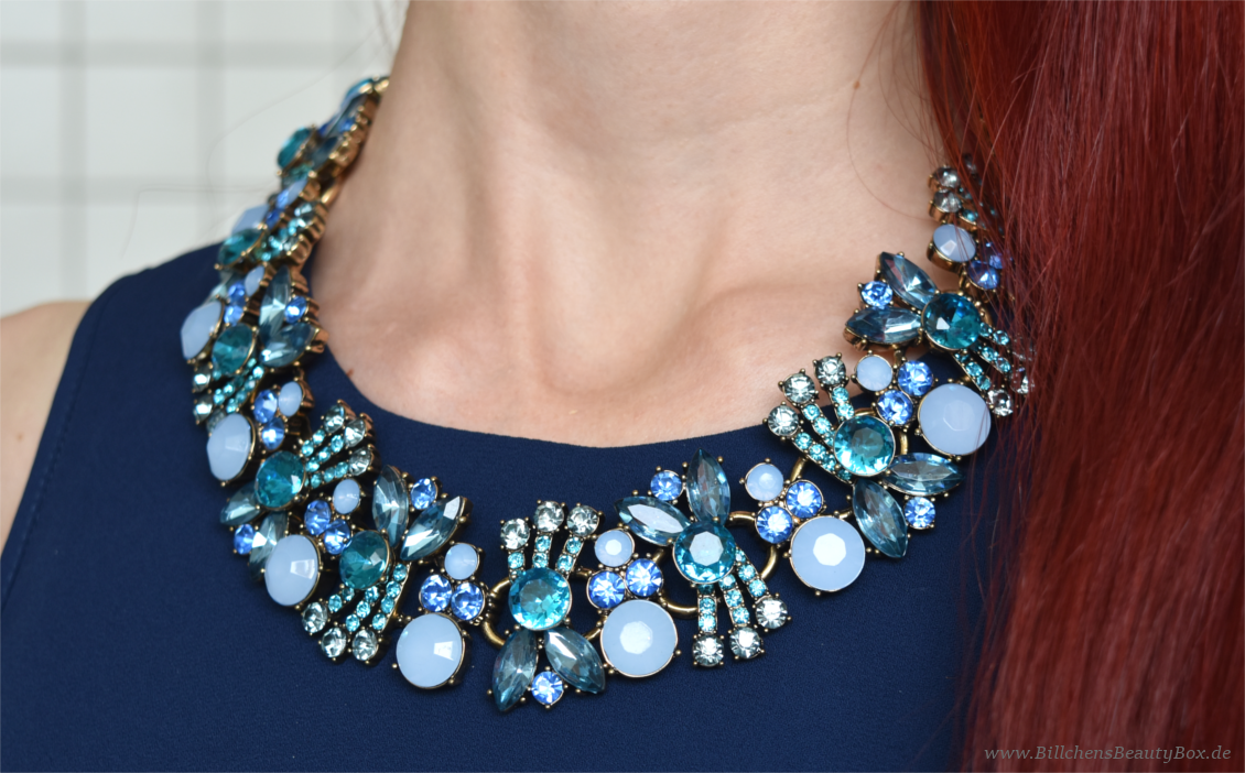 Happiness Boutique - Statement Kette Ozeanblau