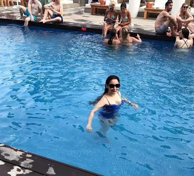 Manyata Dutt In Swim Wear Photos