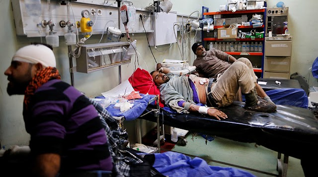 #TrueNews,#HumanRights : World Health Org. claims the first Chemical Weapon attack in Mosul siege.