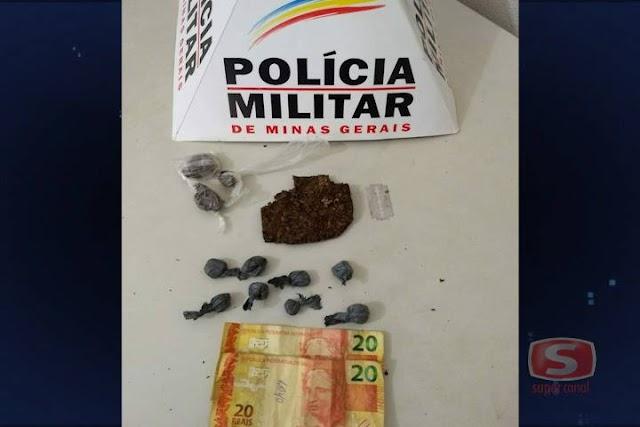 Três jovens são presos em Bom Jesus do Galho pela suspeita do crime tráfico de drogas