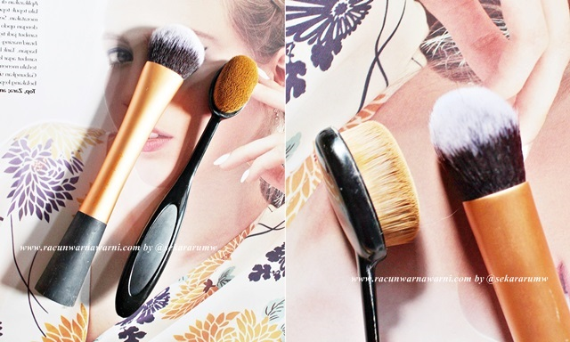 Perbandingan Ukuran  Brush OVal