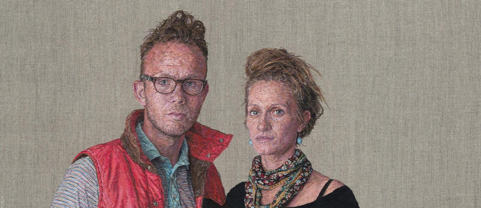 Cayce Zavaglia - retrato bordado