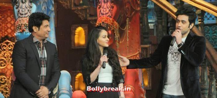 Shekhar Suman, Ariana Ayam, Adhyayan Suman, Ariana Ayam for 'Heartless' Promotion on Comedy Circus