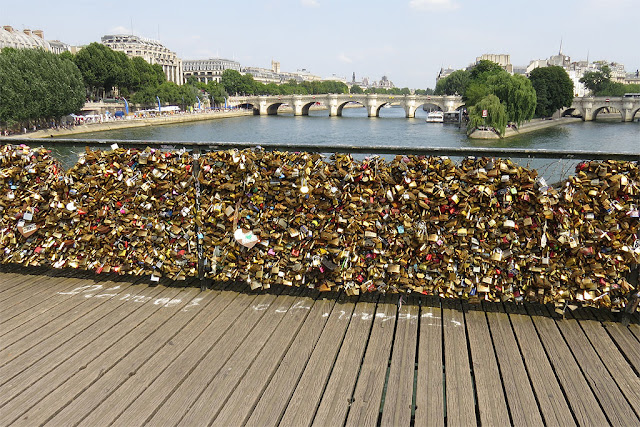 Love-locks on the Pont des Arts, Paris