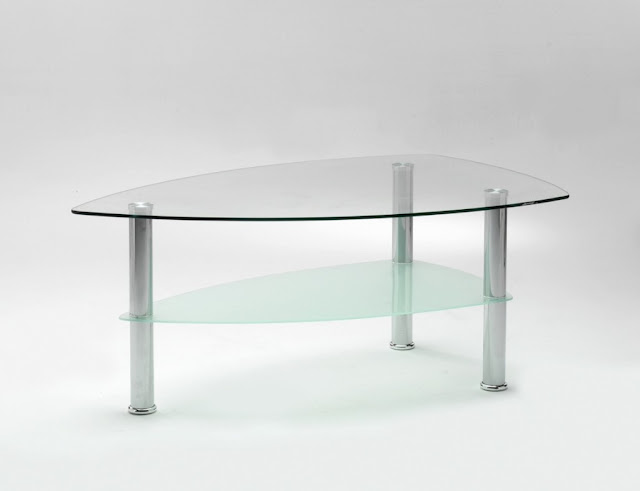 boat shaped glass table design ideas