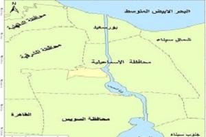 خريطة قناة السويس