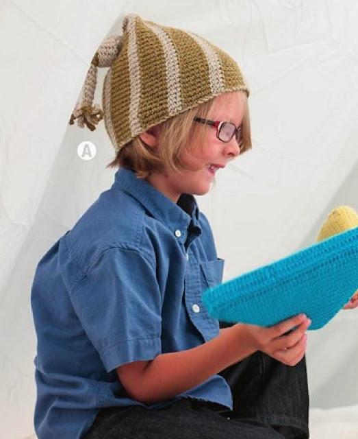 Patrón #1240:Thinking Cap a Crochet