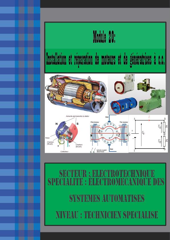 Module 20: Installation et réparation de moteurs et de génératrices à c.c.(esa)