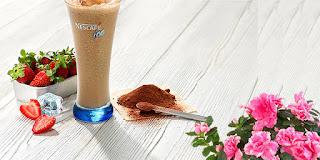 neskafe ice soğuk kahve, nescafe kakaolu ve çilekli buzlu, ev yapımı, KahveKafe