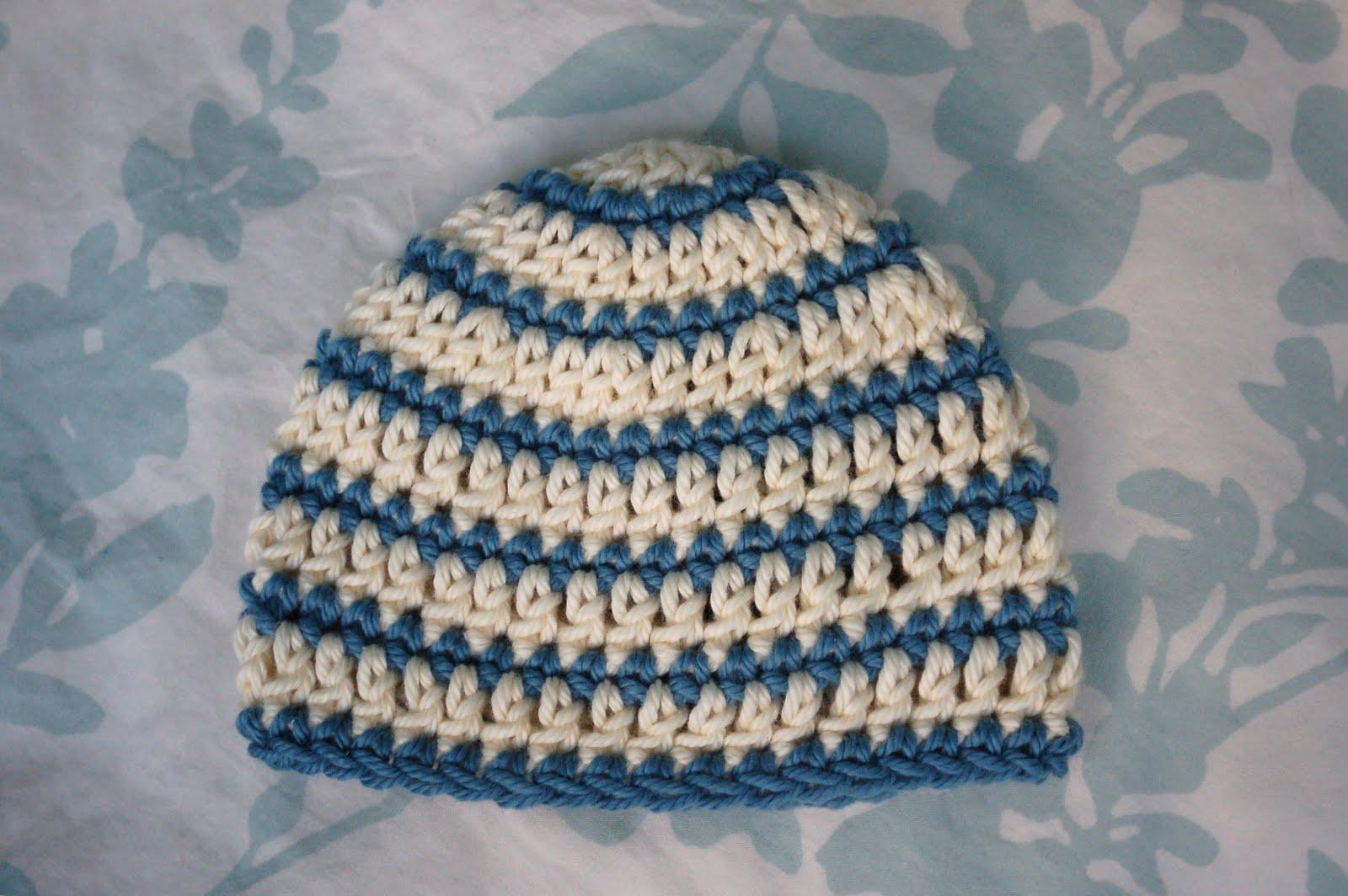 651ee198954 Alli Crafts  Free Pattern  Thick and Thin Striped Beanie - Newborn