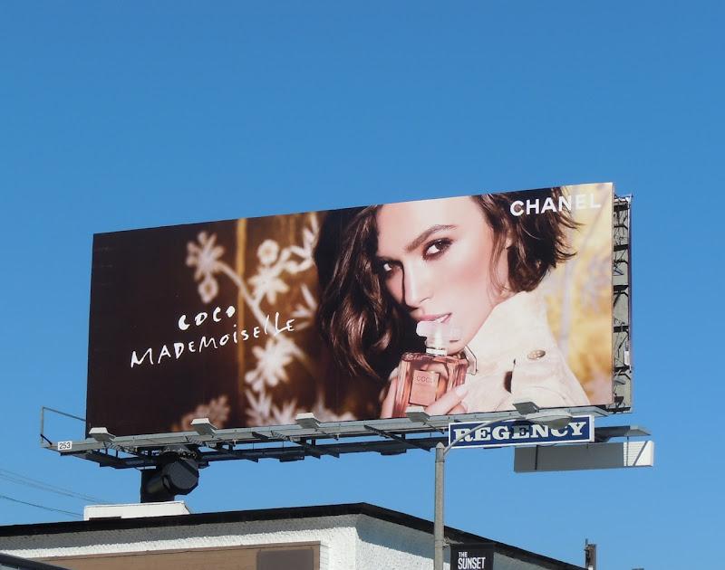 Keira Knightley Coco Mademoiselle Chanel billboard