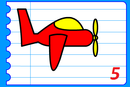 رسم طائرة سهلة خطوة بخطوة للاطفال