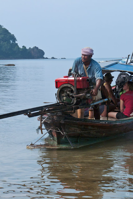 Thailand Ko Libong - Relax Resort - Longtail Boat transportation