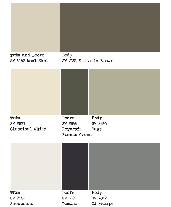 1000 images about paint colors on pinterest exterior - Sherwin williams exterior paint colors chart ...