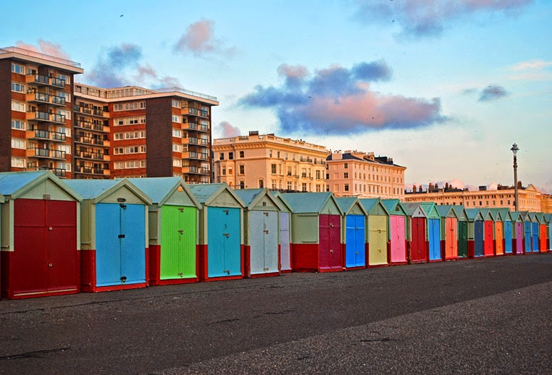 colourful houses hove england brighton