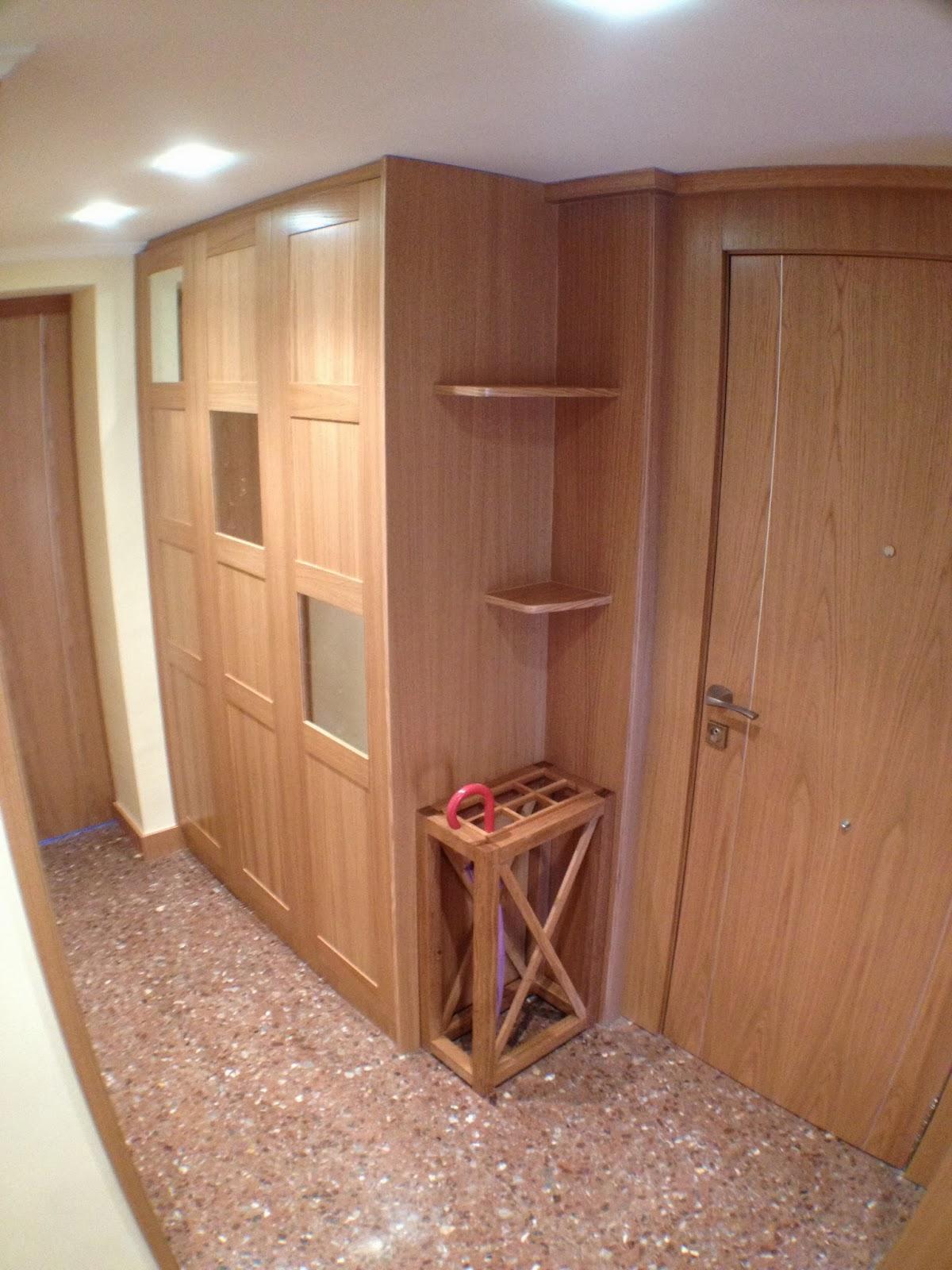 Ebanisteria carpinteria manuel perez zaragoza armario for Armario de pared con entrada equipada