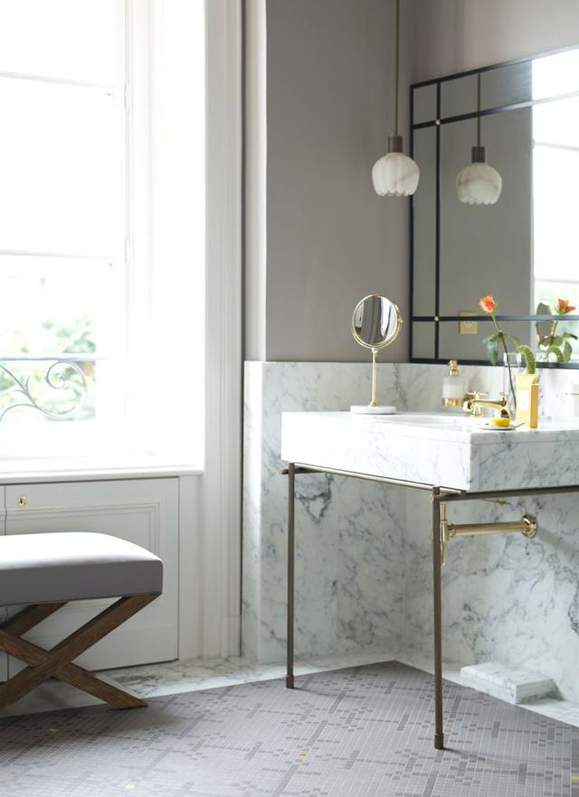 muebles de baño a medida en mármol