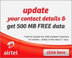 get free 500MB Airtel
