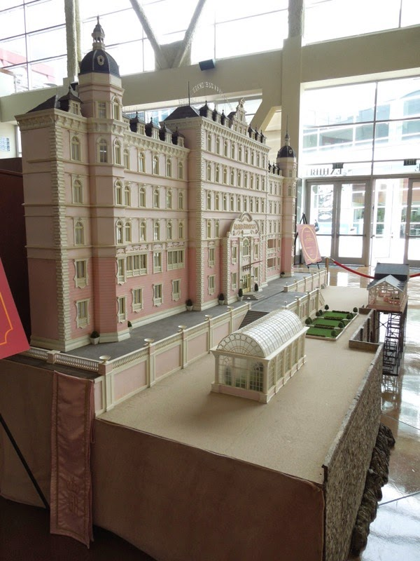 Grand Budapest Hotel film model display