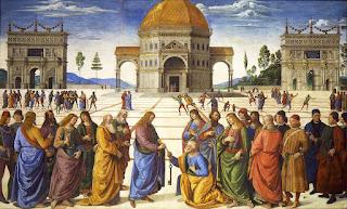 Signorelli, A entrega das chaves, Paredes Capela Sistina
