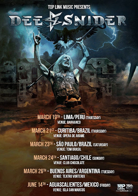 Dee Snider: Confira todas as datas da turnê na América Latina