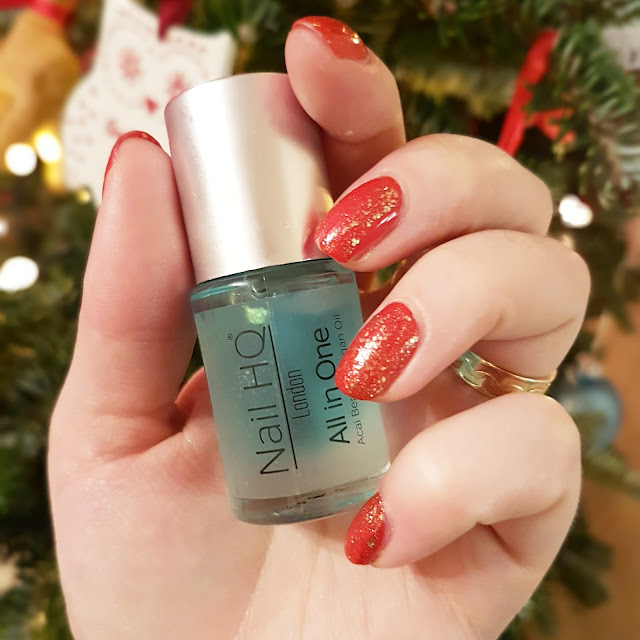 Sparkle This Christmas | Red & Gold NOTD with Nail HQ London