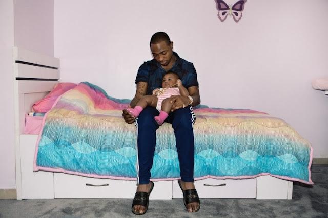 Check out Davido's New Adorable Photos With Daughter