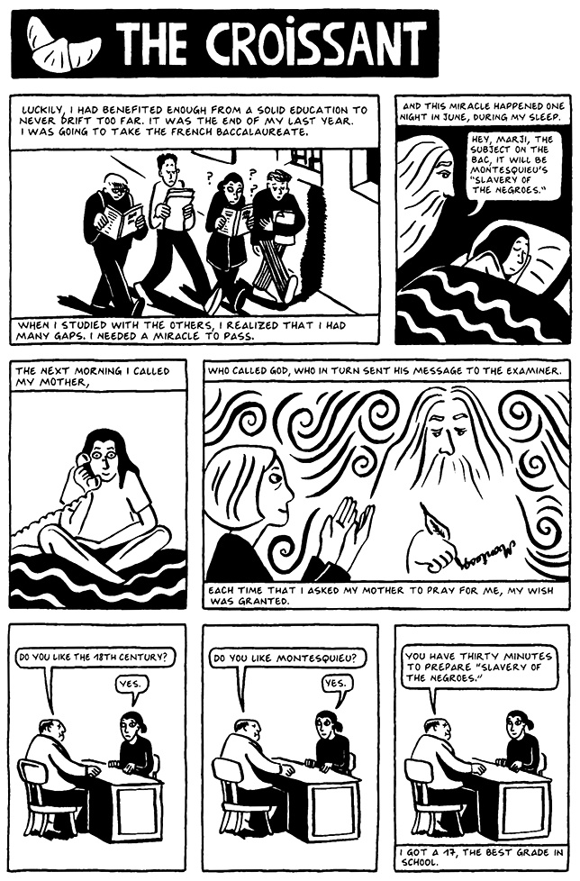 Read Chapter 8 - The Croissant, page 69, from Marjane Satrapi's Persepolis 2 - The Story of a Return