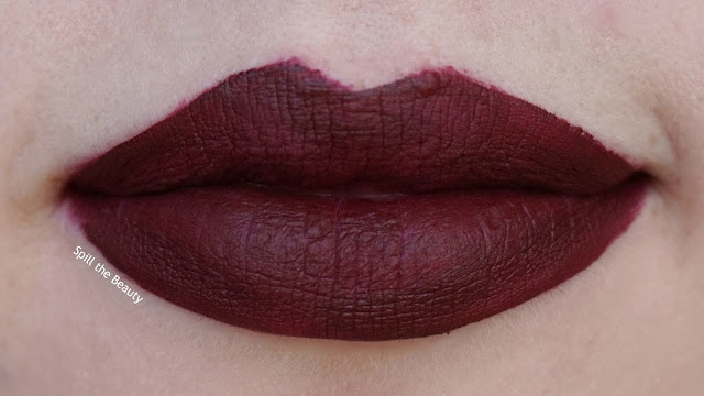 drop dead red - lips too faced melted mattes review swatch