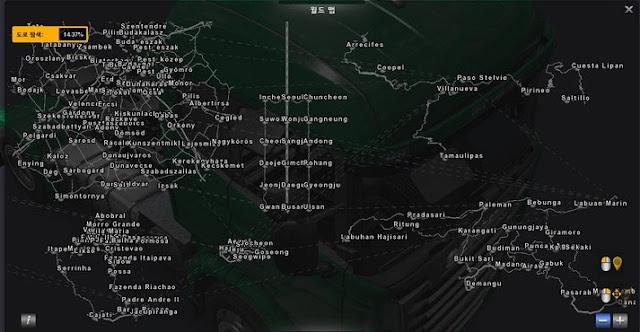 Mod Map South Korea Adventure v 6.6 Ets2