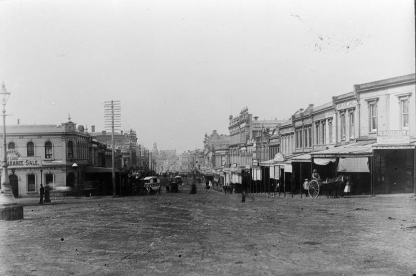 1886 Pic Australasia Antique Print Of Queen Street Wharf New Zealand Auckland