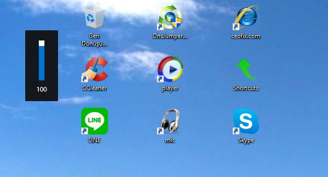 Windows 10'da Ekranda Ses Düzeyi Göstergesini Gizleme - www.ceofix.com