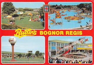 Butlin's Bognor Regis postcard by Golden Shield. Postally used 2 Sep 1985