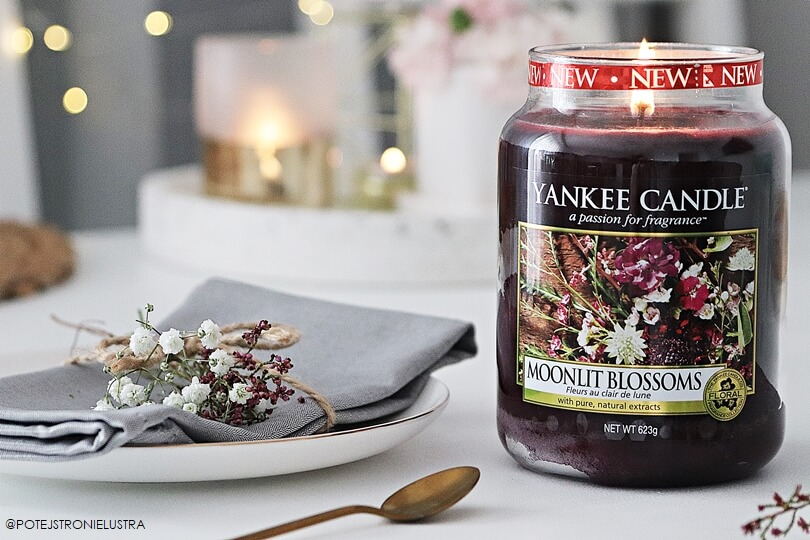świeca yankee candle moonlit blossoms recnzja blog