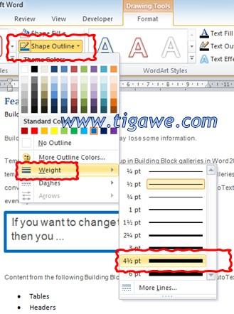 Cara Membuat Garis Kotak Di Word : membuat, garis, kotak, Ganti, Ketebalan, Garis, Border, Box/Object, Shape