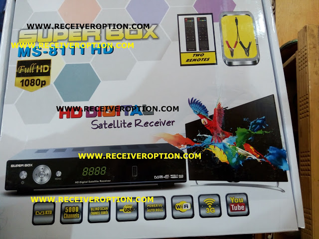 SUPER BOX MS-8111 HD RECEIVER AUTO ROLL POWERVU KEY NEW SOFTWARE