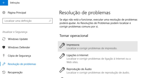 resolver problemas com impressora no windows 10