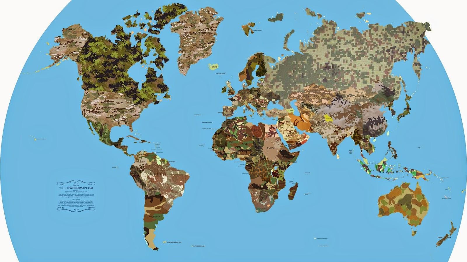 Military Camouflage Patterns around the world