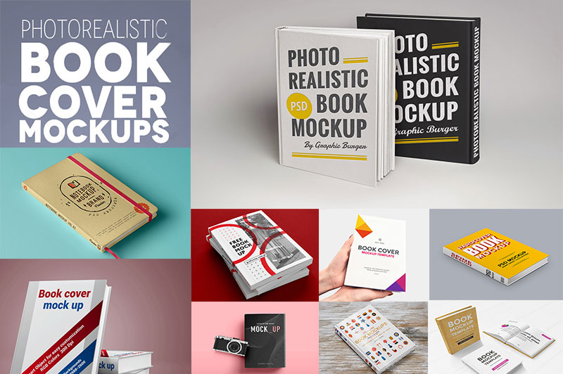 50 Best Free Book Mockups PSD for Cover Designs