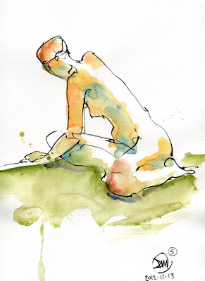 5 minute pen and wash sketch by David Meldrum